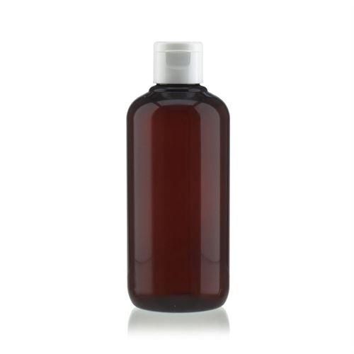 """250ml braune PET-Flasche """"Victor's Best"""" mit Klappscharnier, weiß"""