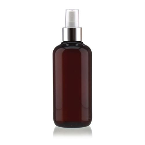 """250ml braune PET-Flasche """"Victor's Best"""" mit Sprühzerstäuber"""