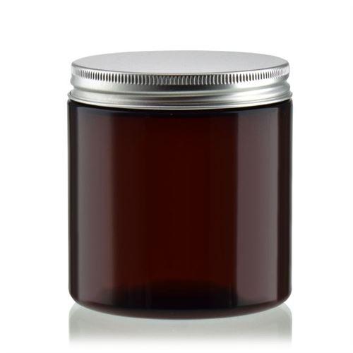 "250 ml brun PET-dåse ""Victor's Best"", aluminiumskruelåg"