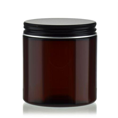 "250 ml brun PET-dåse ""Victor's Best"", sort aluminiumskruelåg"