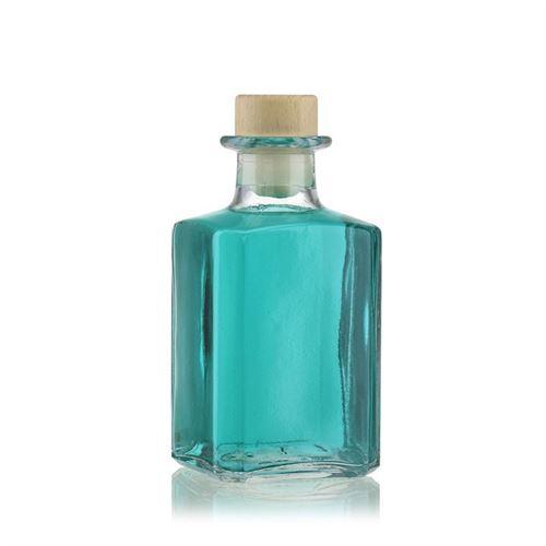 """250 ml firkantet flaske """"Torben"""", klar"""