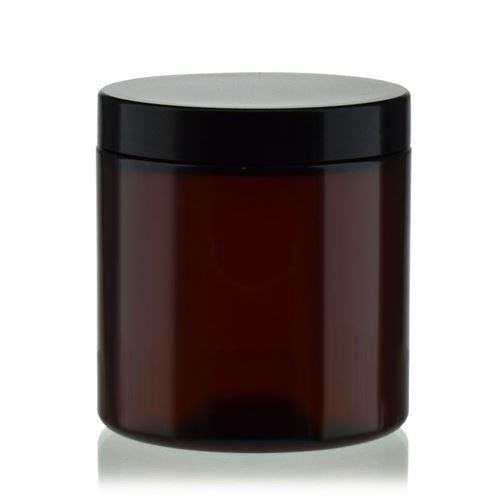 """250 ml pot PET """"Victor's Best"""" brun, bouchon à vis en noir"""
