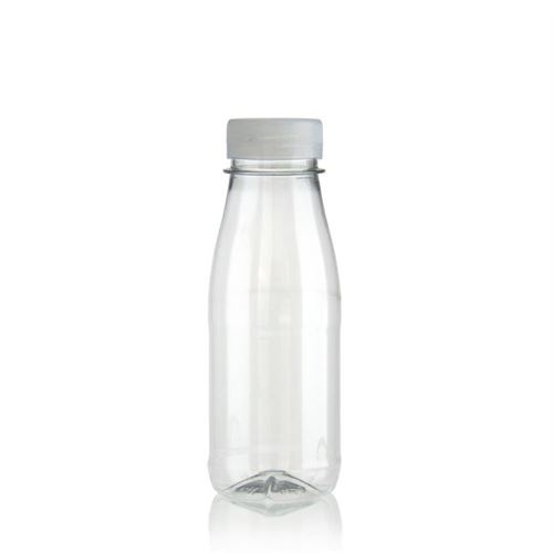 "250ml Bottiglia PET a collo largo ""Milk and Juice"" bianco"