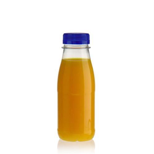 """250ml Bottiglia PET a collo largo """"Milk and Juice"""" blu"""