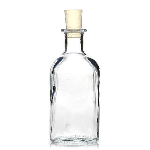 """250ml Bottiglia in vetro chiaro """"Farmacista Carree"""""""