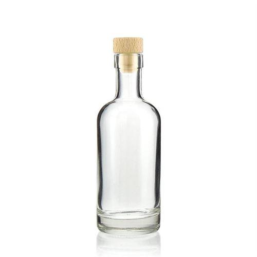 """250ml Bottiglia in vetro chiaro """"Linea uno"""""""