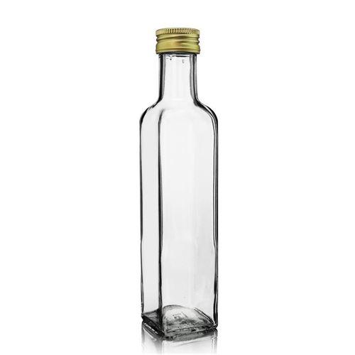 "250ml Bottiglia in vetro chiaro ""Marasca"""