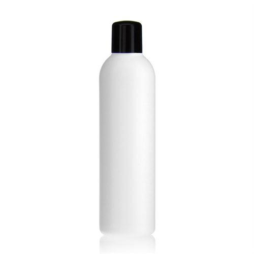 """250ml HDPE-flaske """"Tuffy"""" sort med sprøjteindsats"""