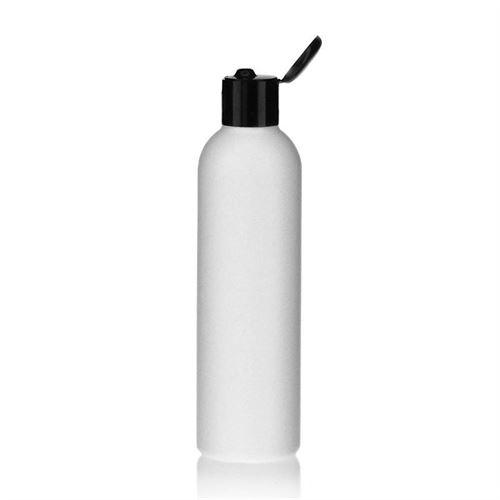 "250ml HDPE-fles ""Tuffy"" zwart met scharnier dop"