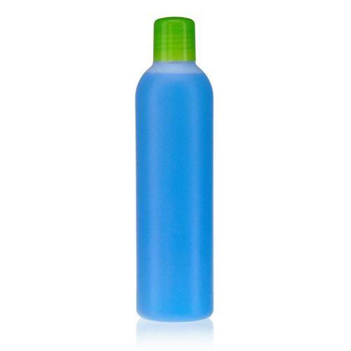 """250ml HDPE-flaske """"Tuffy"""" natur/grøn med sprøjteindsats"""