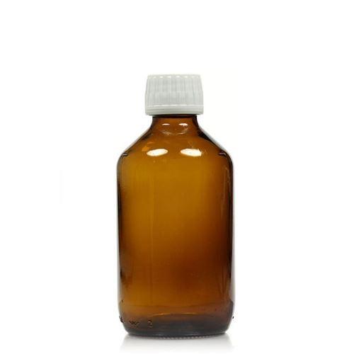 250ml braune Medizinflasche mit 28mm-Originalitätsverschl.