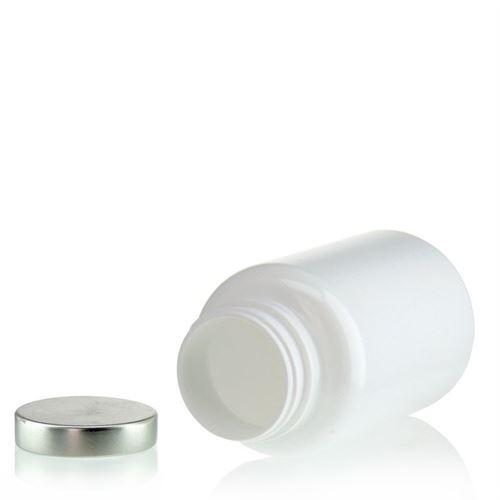250ml PET-Packer-weiß mit Aluminiumverschluss
