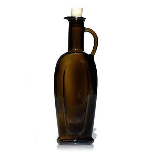 """250ml antikgrøn olie-/eddikeflaske """"Eleganta"""""""