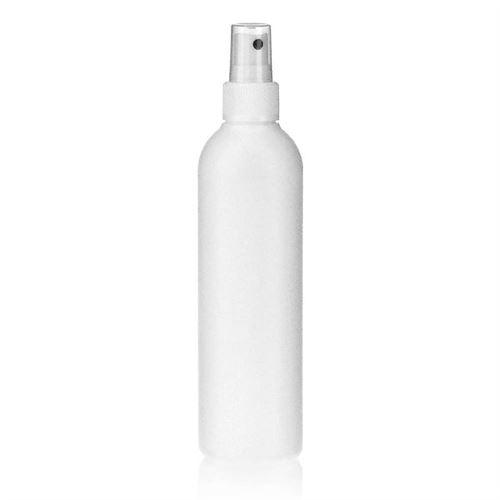 """250ml bottiglia HDPE """"Tuffy"""" bianco con erogatore spray"""