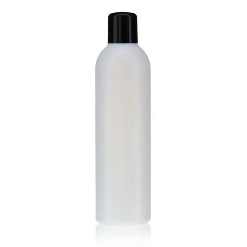 """250ml bottiglia HDPE """"Tuffy"""" natura/nero con chiusura a spruzzo"""