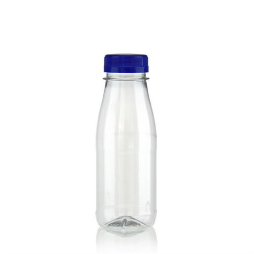 "250ml bouteille col large PET ""Milk and Juice"" bleu"