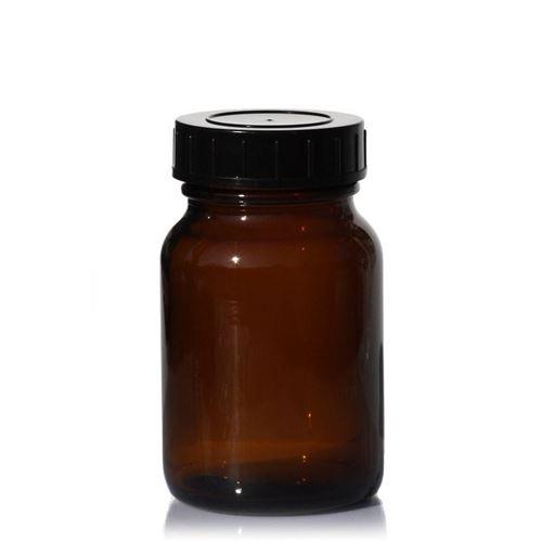 250ml bruine glazen pot med wijde hals