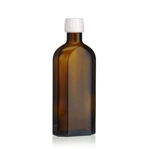 250ml flacon médecine brun spécial avec fermeture d'originalité de 28mm