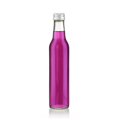 "250 ml klar glasflaska ""Cilindrica"""