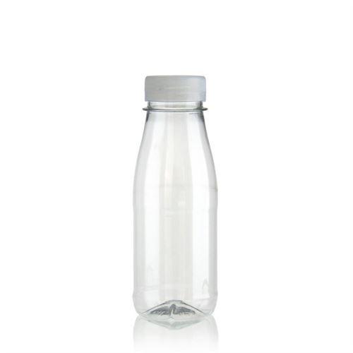 "250ml PET flaska med bred hals ""Milk and Juice"" vit"