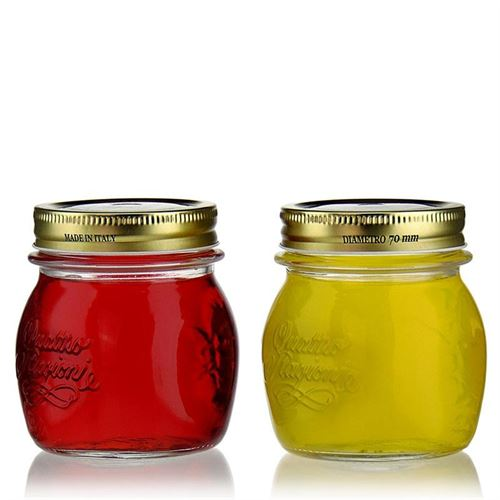 """250ml household jar """"4 seasons"""", set of 2"""