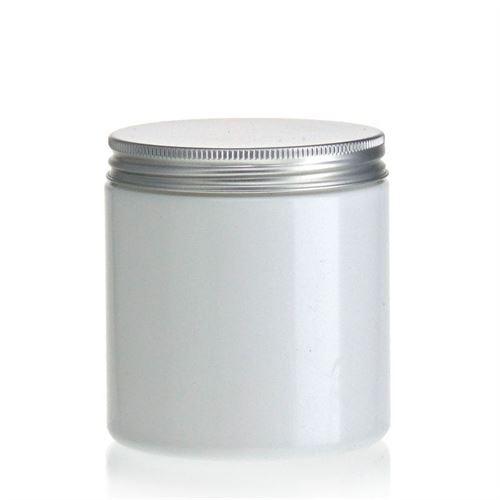 """250ml hvid PET-dåse """"Bella Mia"""" aluminium"""