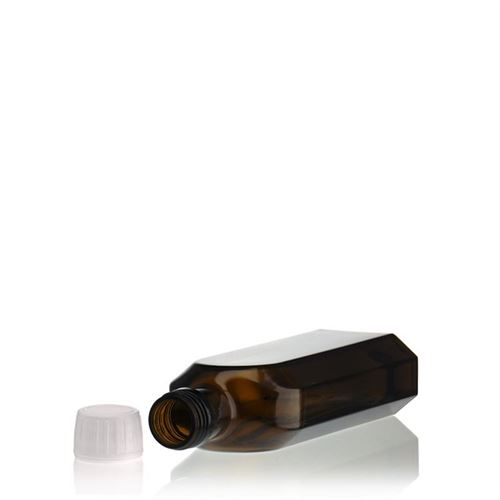 """250ml medicinflaske """"Special"""", med originalitetslukning, brun"""