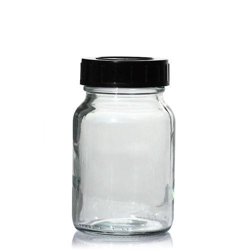 250ml transparent glas, med bred hals