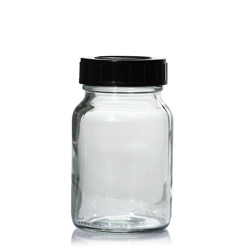 250ml vasetto in vetro trasparente a collo largo