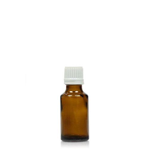 25ml braune Medizinflasche mit 18mm-Originalitätsverschl.