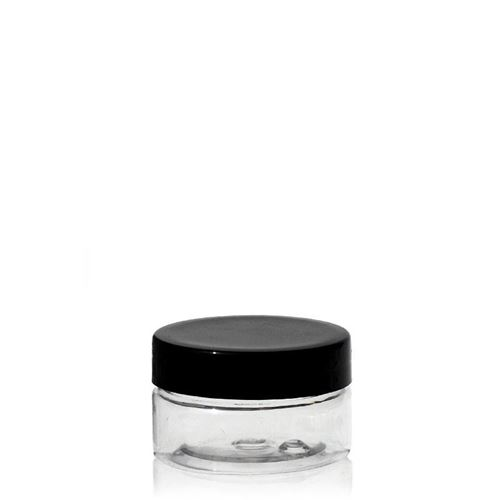 "25ml PET jar ""Bella Mia Mini-black"""