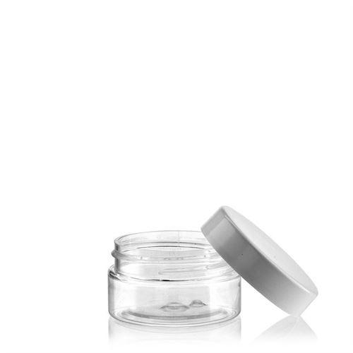 "25ml PET jar ""Bella Mia Mini-white"""