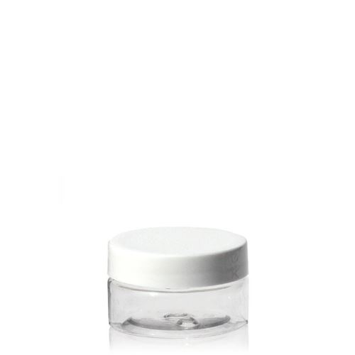 "25ml PET-pot ""Bella Mia Mini"" schroefdeksel wit"