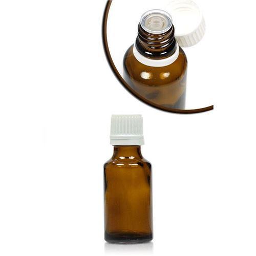 25ml brun medicinflaske, med dråbetæller