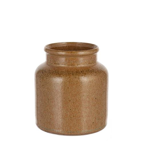 "270ml Keramiktopf ""braun-christall"""