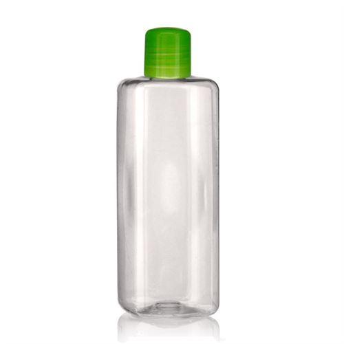 """300ml Bottiglia PET """"Carlo"""" verde con chiusura a spruzzo"""