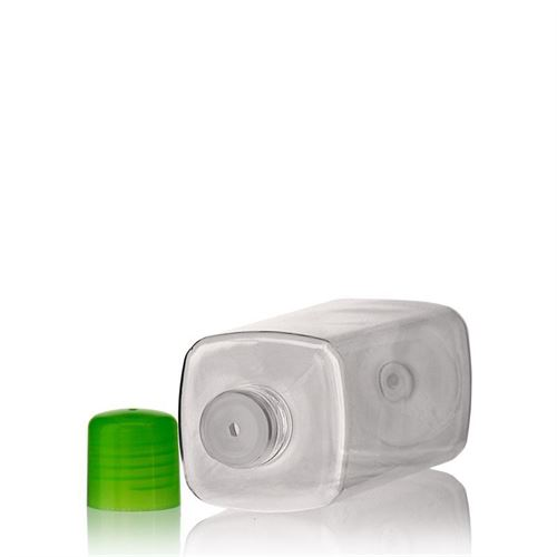 """300ml PET-Flasche """"Karl"""" grün mit Spritzeinsatz"""