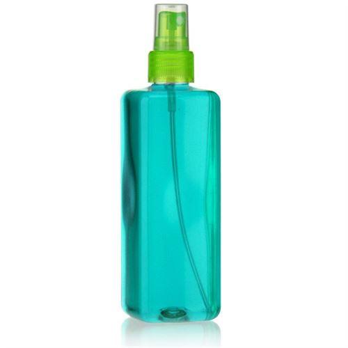 """300ml PET-Flasche """"Karl"""" grün mit Sprühzerstäuber"""