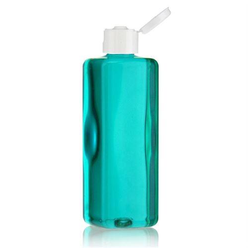 """300ml PET-flaske """"Karl"""" hvid, med klaplåg"""