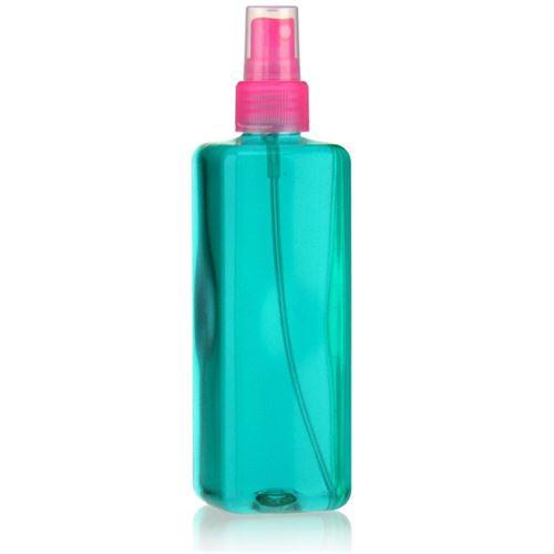 "300ml PET-flaske ""Karl"" lyserød med sprayhoved"