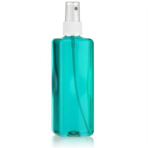 """300ml bottiglia PET """"Carlo"""" bianco con erogatore spray"""