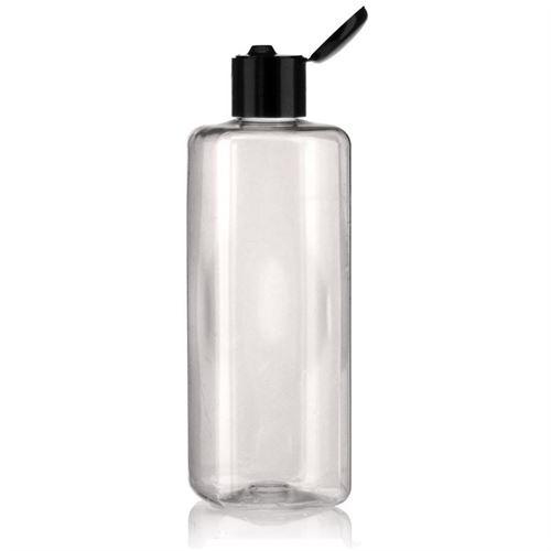 """300ml bottiglia PET """"Carlo"""" nero con tappo Flip top"""