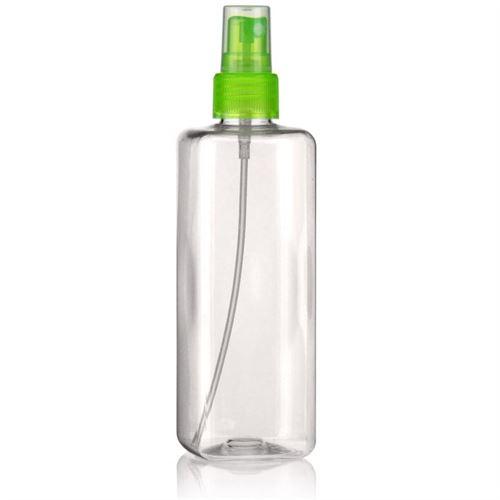 """300ml bottiglia PET """"Carlo"""" verde con erogatore spray"""