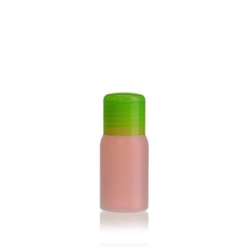 """30ml HDPE-flaske """"Tuffy"""" natur/grøn, med klaplåg"""