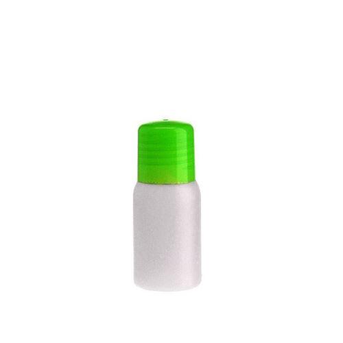"""30ml HDPE-flaske """"Tuffy"""" natur/grøn med sprøjteindsats"""