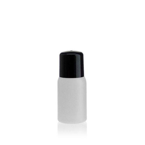 """30ml HDPE-flaske """"Tuffy"""" natur/sort med sprøjteindsats"""