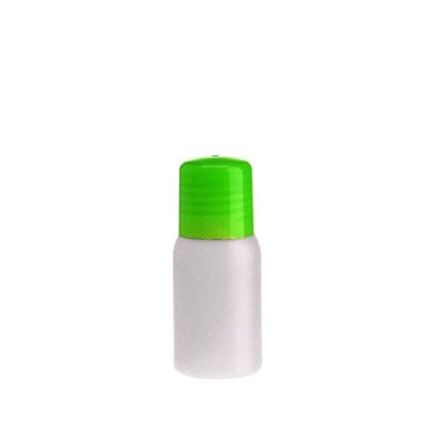 "30ml botella HDPE ""Tuffy"" natural/verde con cierre para chorrear"