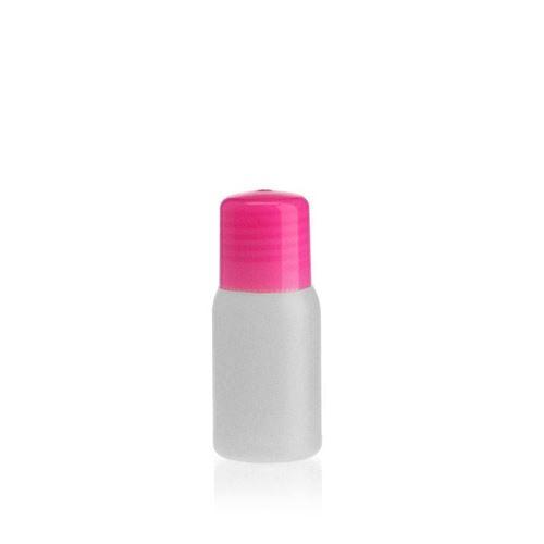 """30ml bottiglia HDPE """"Tuffy"""" natura/rosa con chiusura a spruzzo"""