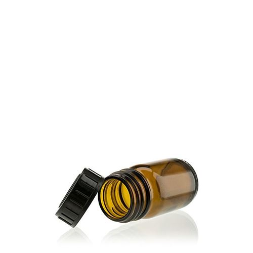 30ml bruine glazen fles met wijde hals