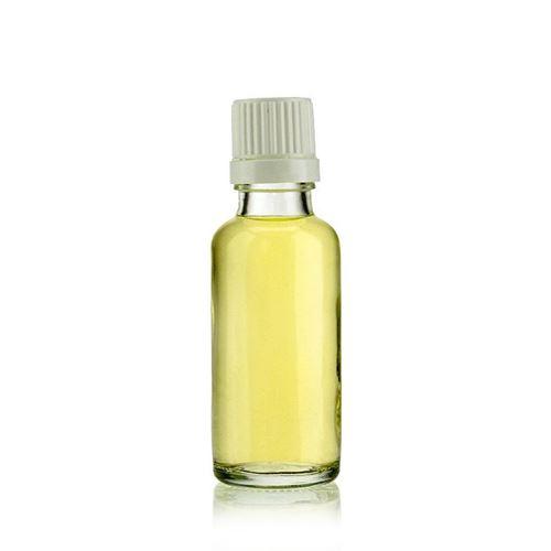 30ml klare Medizinflasche mit Originalitätsverschl.